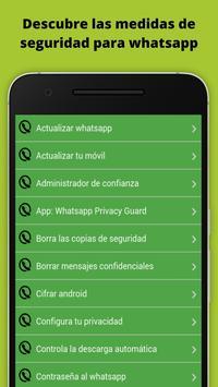 Trucos Seguridad para whatsapp poster