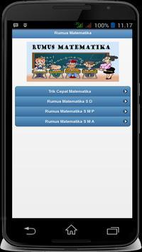 Rumus Matematika Free screenshot 1
