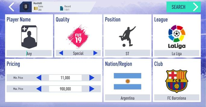 Draft Simulator for FUT 19 captura de pantalla 4