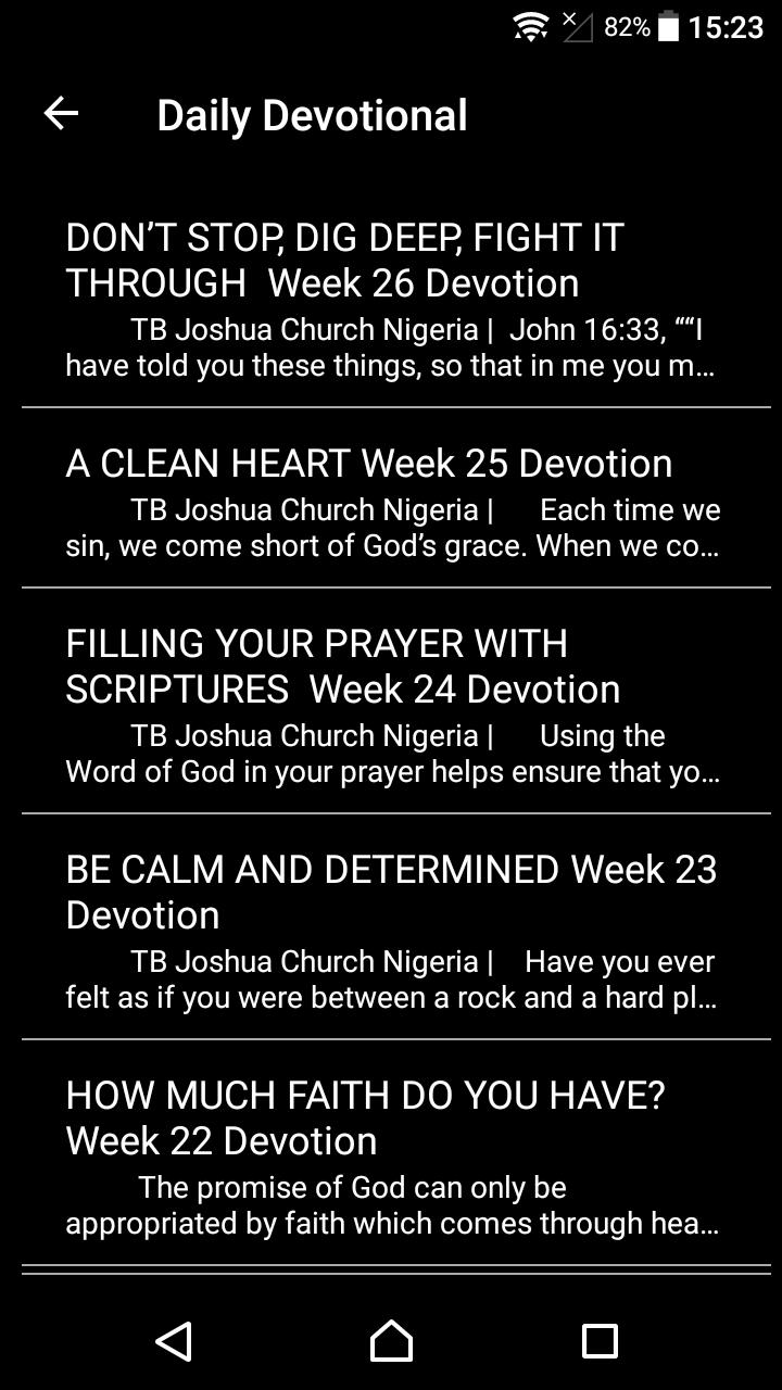 T B  Joshua Daily Devotional for Android - APK Download