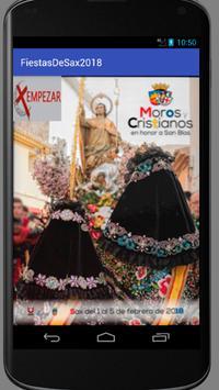Fiestas en honor a San Blas 2018 Sax (Alicante) poster