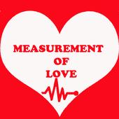 Measurement of love icon