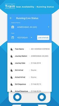 Train Seat Status Info >> Indian Rail Train Info apk screenshot