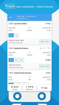 Train Seat Status Info >> Indian Rail Train Info poster