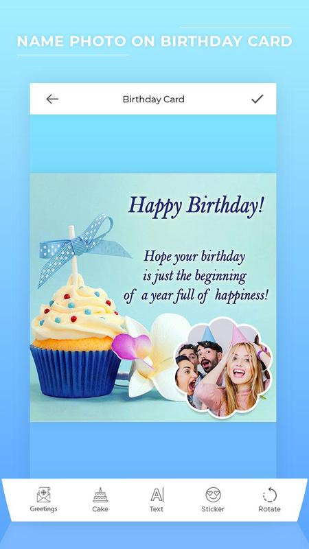 Make Birthday Card With Photo Name Poster