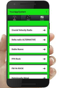Rock fm radio music poster