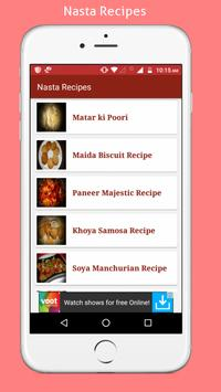 Snacks(Nasta) Recipes apk screenshot