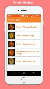 Paneer Recipes apk screenshot