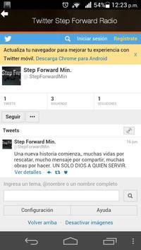STEP FORWARD RADIO screenshot 1
