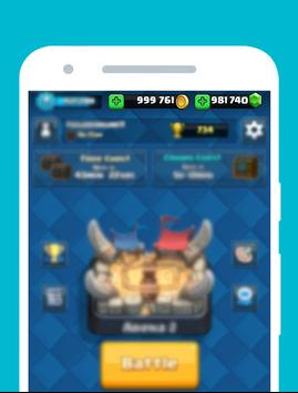 Gems to Clash Royale Prank '17 apk screenshot