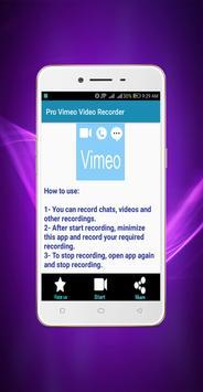 Pro Vimeo Video Recorder screenshot 1