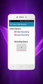 Pro Vimeo Video Recorder screenshot 2