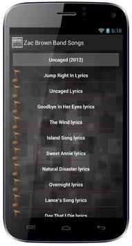 Zac Brown Band Songs screenshot 1