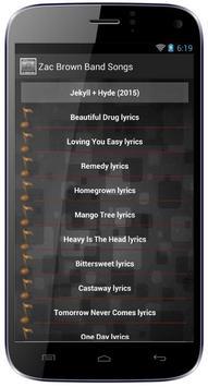 Zac Brown Band Songs screenshot 2