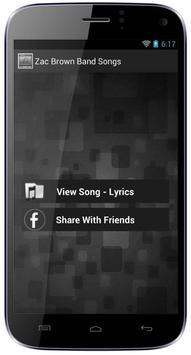 Zac Brown Band Songs screenshot 4