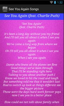 See You Again Song Lyrics for Android - APK Download