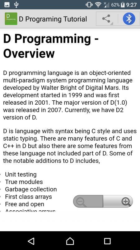 9d33dfc56e79c Learn D programming language poster Learn D programming language screenshot  1 ...