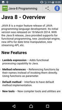 Learn Java 8 | Java-8 Tutorials screenshot 1