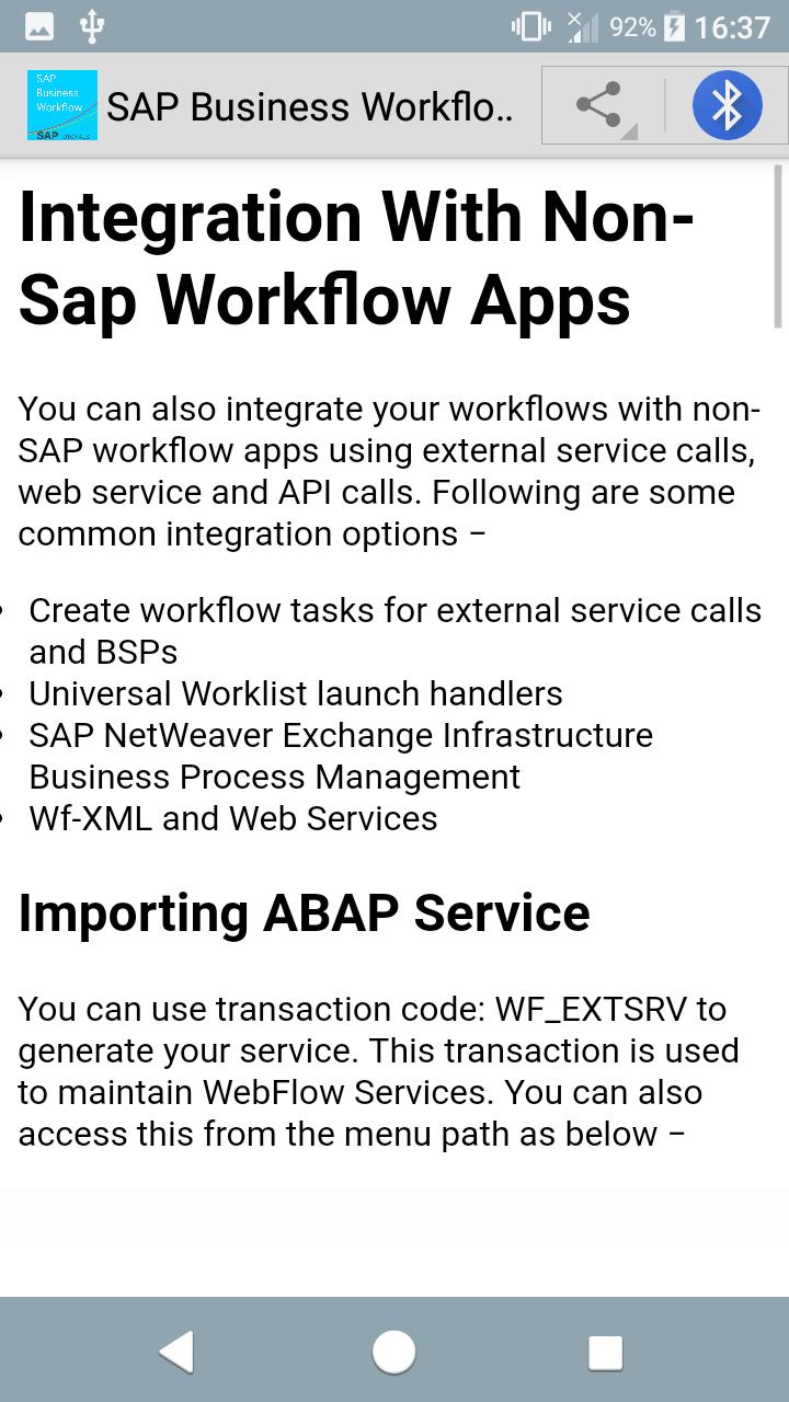 Learn SAP Business Workflow for Android - APK Download