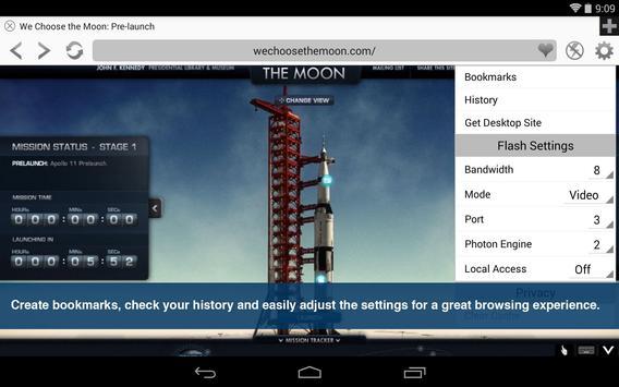 Reproductor y Navegador Flash captura de pantalla 8