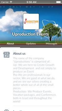 Uproduction Events apk screenshot