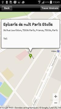 Epicerie de nuit Paris Etoile apk screenshot