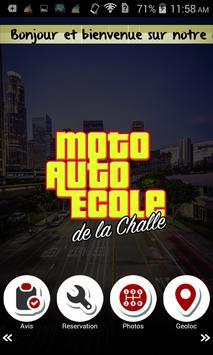 Moto Auto Ecole de la Challe poster