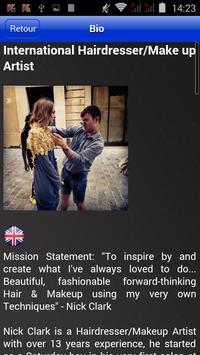 Nick Clark Hairdressing screenshot 1