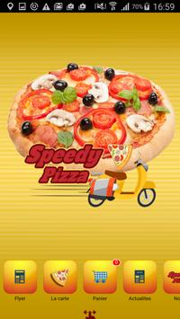 Speedy Pizza day and night poster