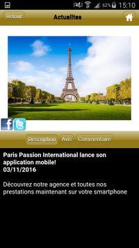 Paris Passion International screenshot 2