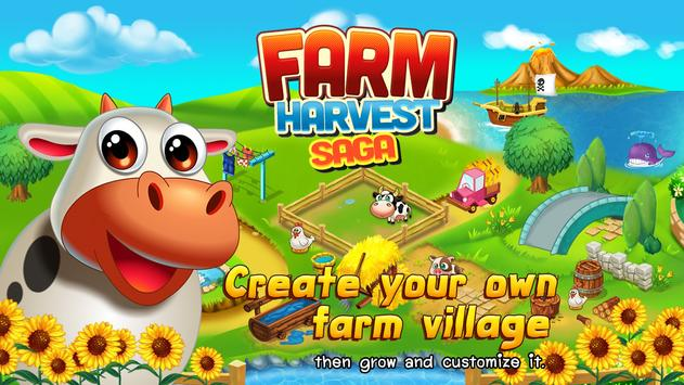 Top Farm Village Harvest Moon poster
