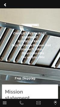 Charlie's Restaurant Equipment apk screenshot