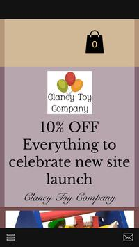 Clancy Toy Company poster