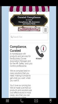 Curated Compliance poster
