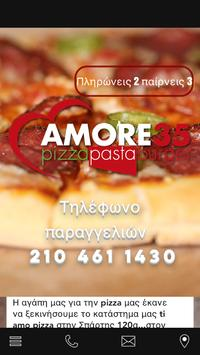 Amore35 pizza poster