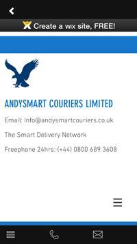 Andysmart Couriers apk screenshot