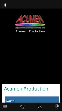 Acumen Production apk screenshot