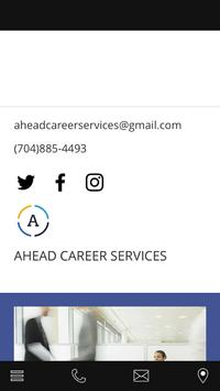 Ahead Career Services poster