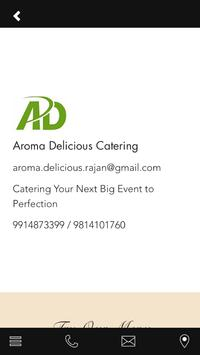 Aroma Delicious Catering apk screenshot