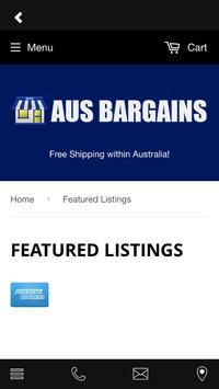 Aus Bargains screenshot 1