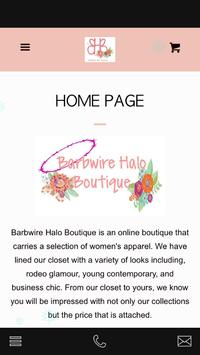 Barbwire Halo  Boutique poster