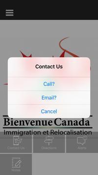 Bienvenue canada immigration screenshot 3