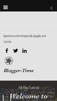 Blogging Time poster