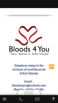 Bloods4you Book Today poster