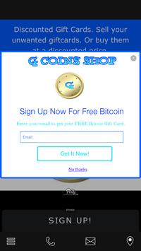G Coins Shop poster