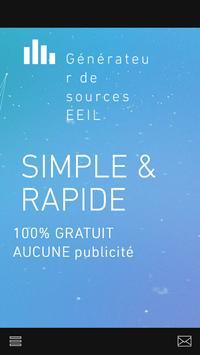 Generateur de sources EEIL apk screenshot
