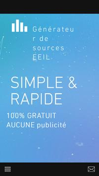 Generateur de sources EEIL apk screenshot