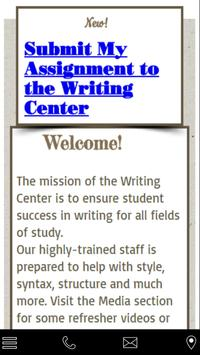 Grayson College Writing Center poster