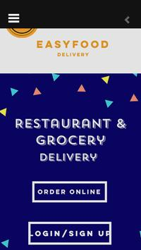 EasyFood Delivery Moblie poster