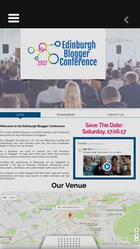 Edinburgh Blogger Conference poster
